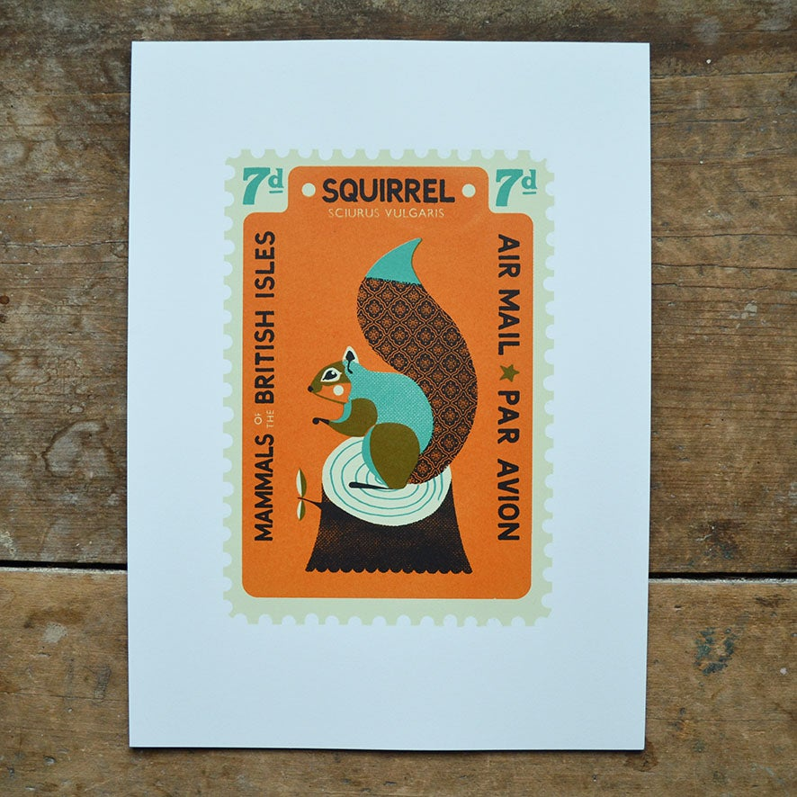 Image of Squirrel Stamp