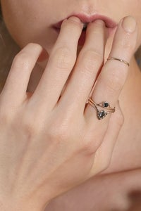 Image of BLACK DIAMOND SUSPENSE RING