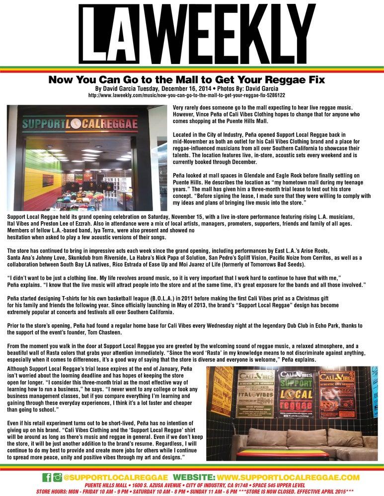 Image of LA WEEKLY ARTICLE DECEMBER 2014 FREE