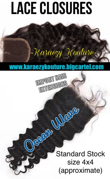 Image of JUST LACE CLOSURES - (Ocean Wave - Body Wave - Natural Straight)