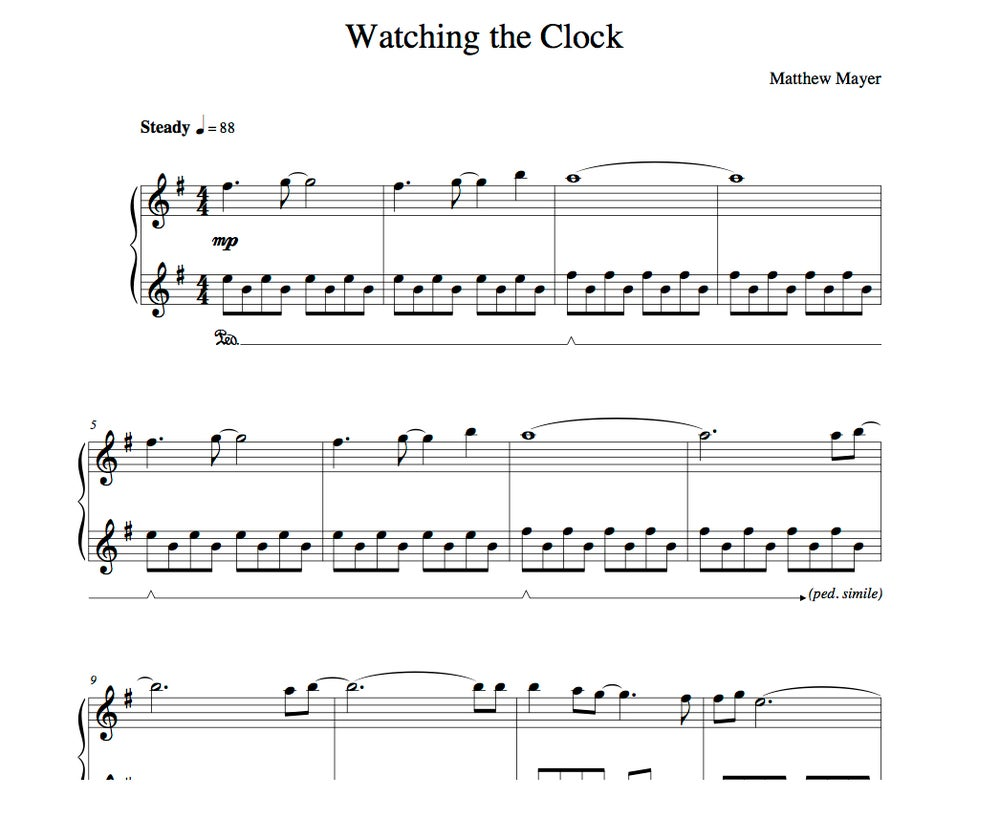 Image of New - Watching the Clock Sheet Music