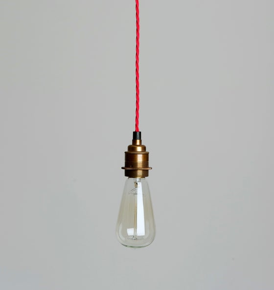 Image of Single Twisted Braided Pendant Light