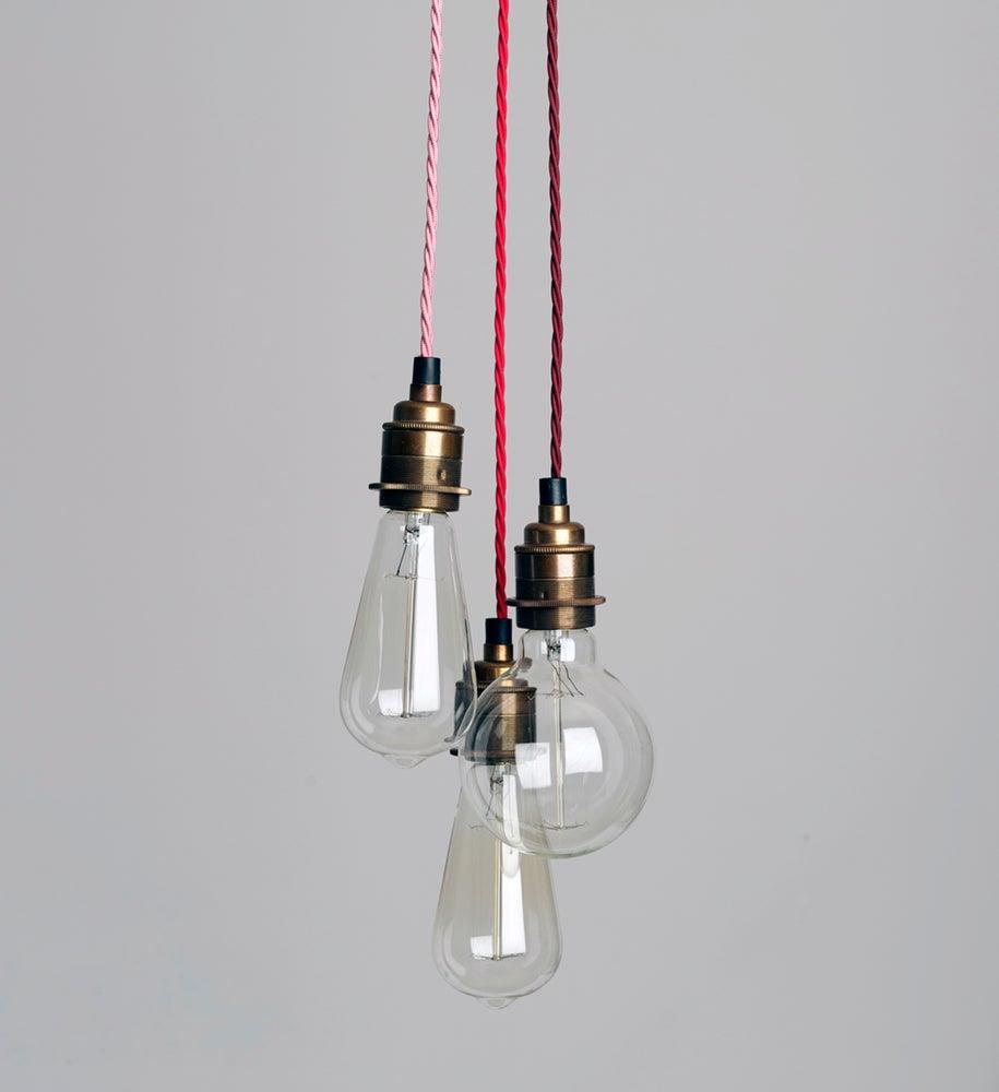 three strand cluster pendant light h tte