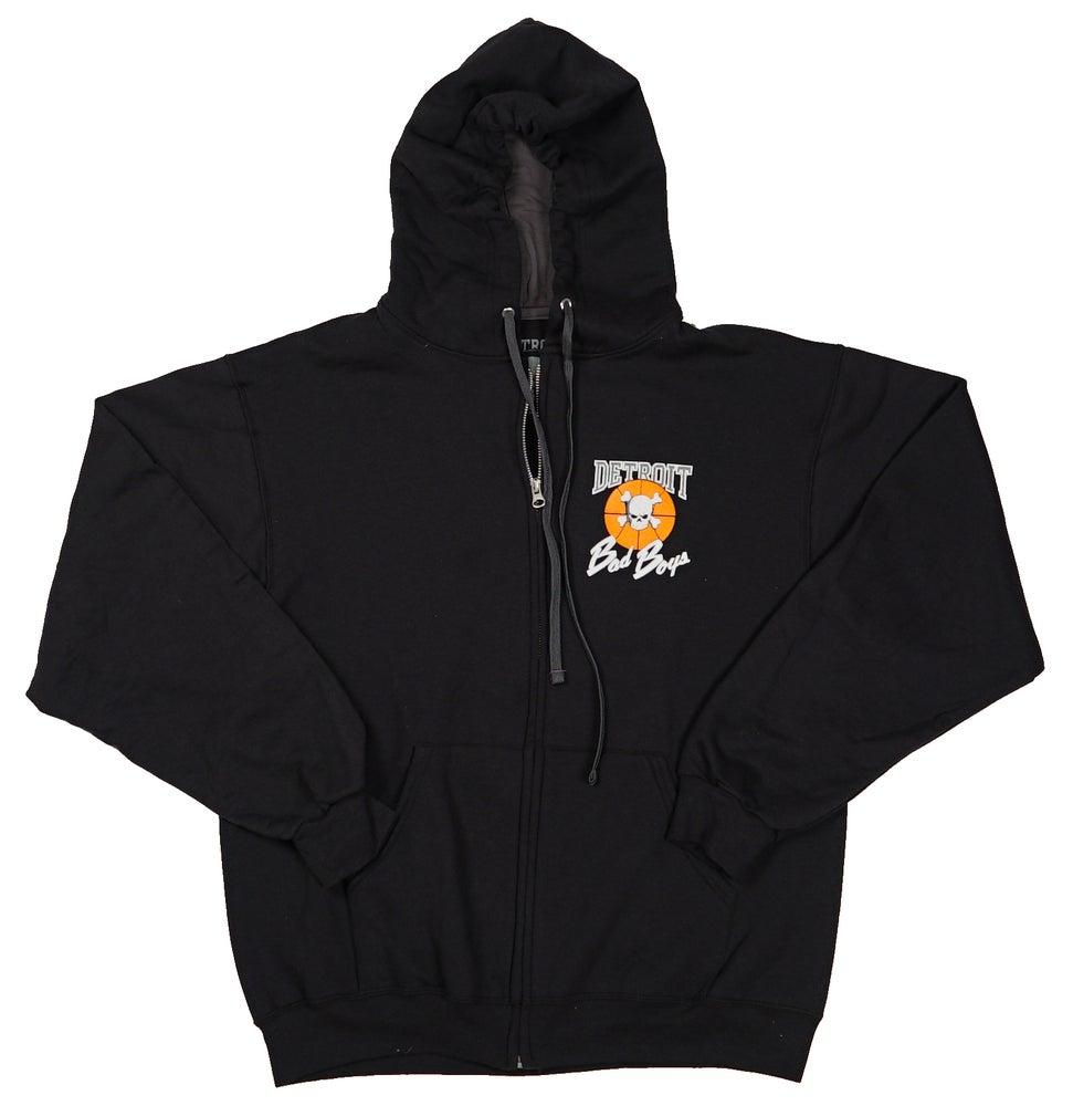 Image of Retro Detroit Pistons Bad Boys Zip-Up Hoodie
