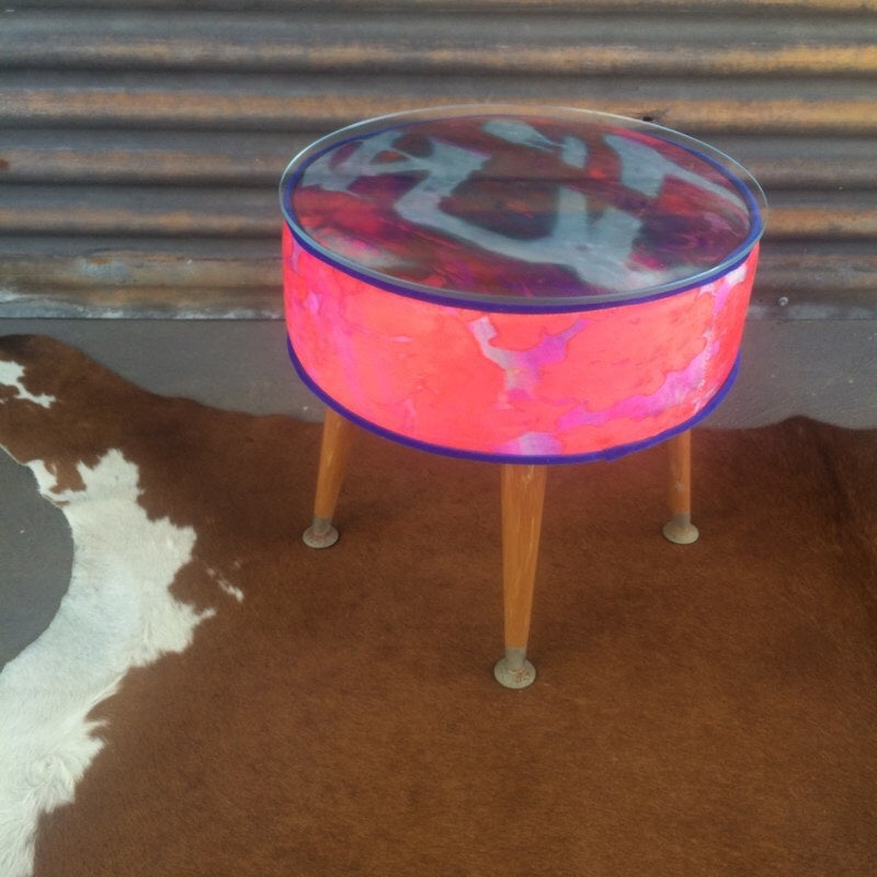 Image of Winifred Glass Top Table OR Footstool