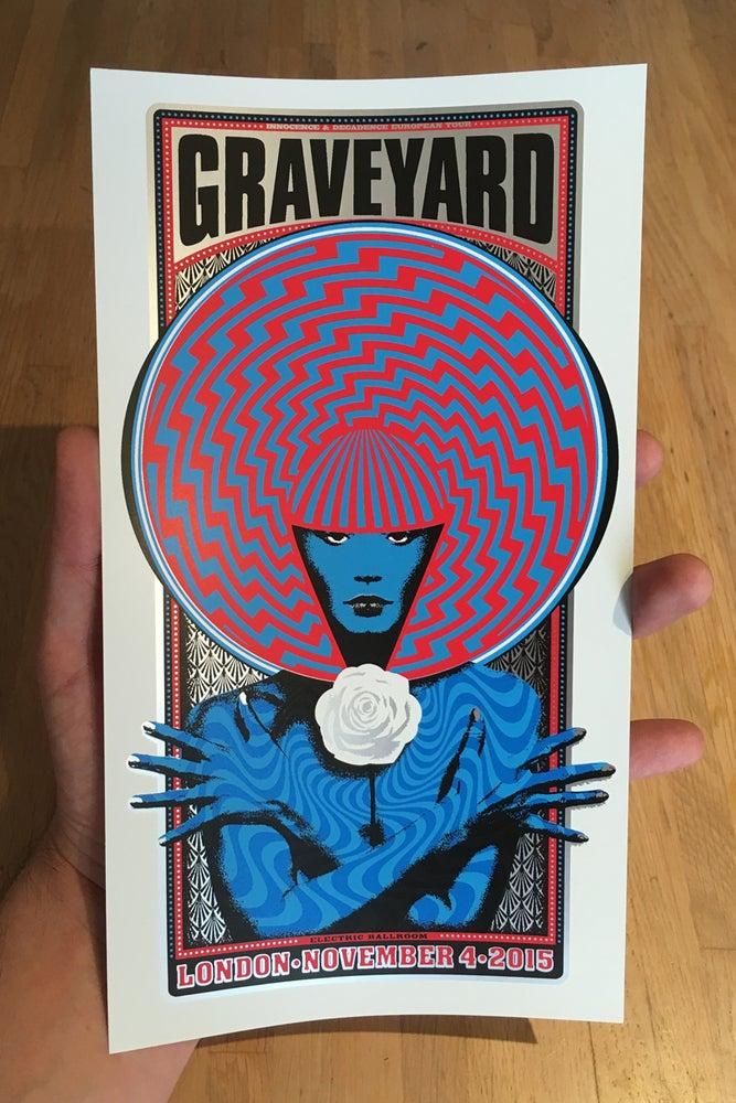 Image of Graveyard Handbill Soft Silver Foil