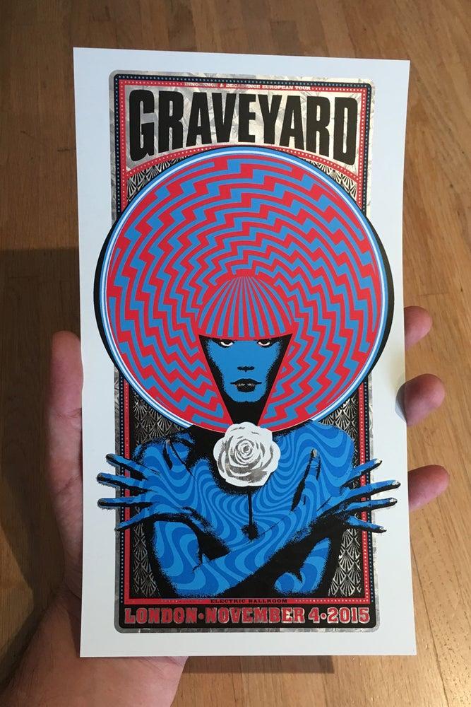 Image of Graveyard Handbill Galvanised Metal Foil