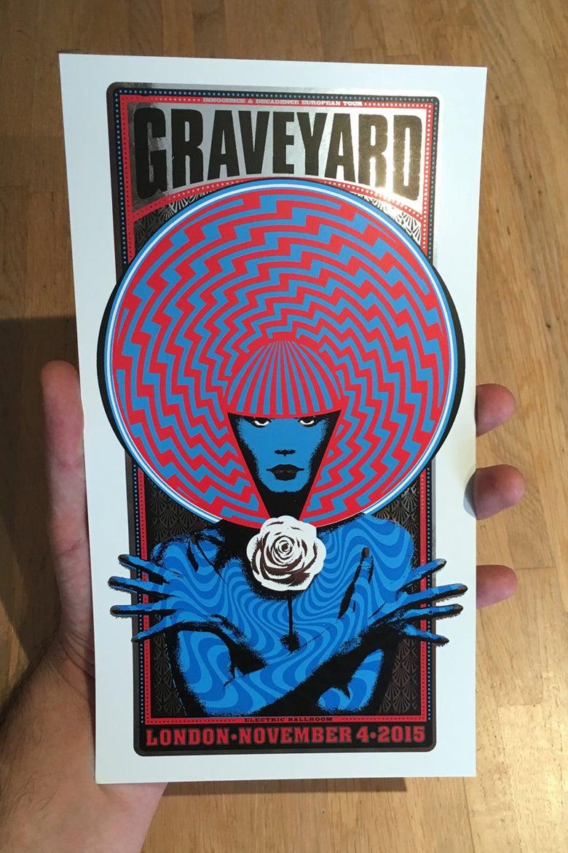 Image of Graveyard Handbill Silver Foil