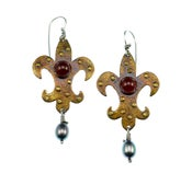 "Image of ""Marie's Fleur di Lis"" Earrings"