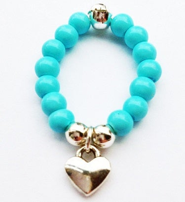 Image of Turquoise Stackable Charm Ring - Star
