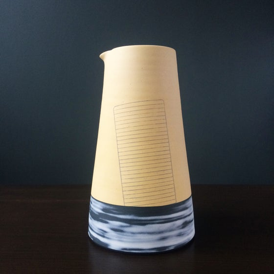 Image of 'Sinking Grille' Sculptural Jug Form by James & Tilla Waters.