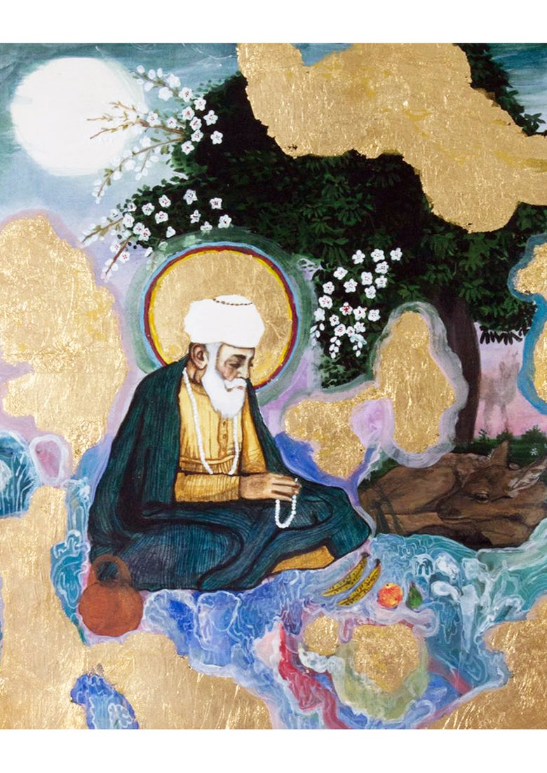 Image of Fine Art Print - Guru Nanak Dev Ji - A4 - 2nd Edition