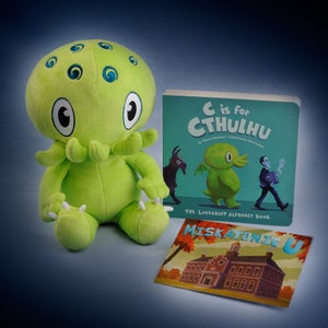 Image of Green Cthulhu w/C is For Cthulhu Board Book - SIGNED!