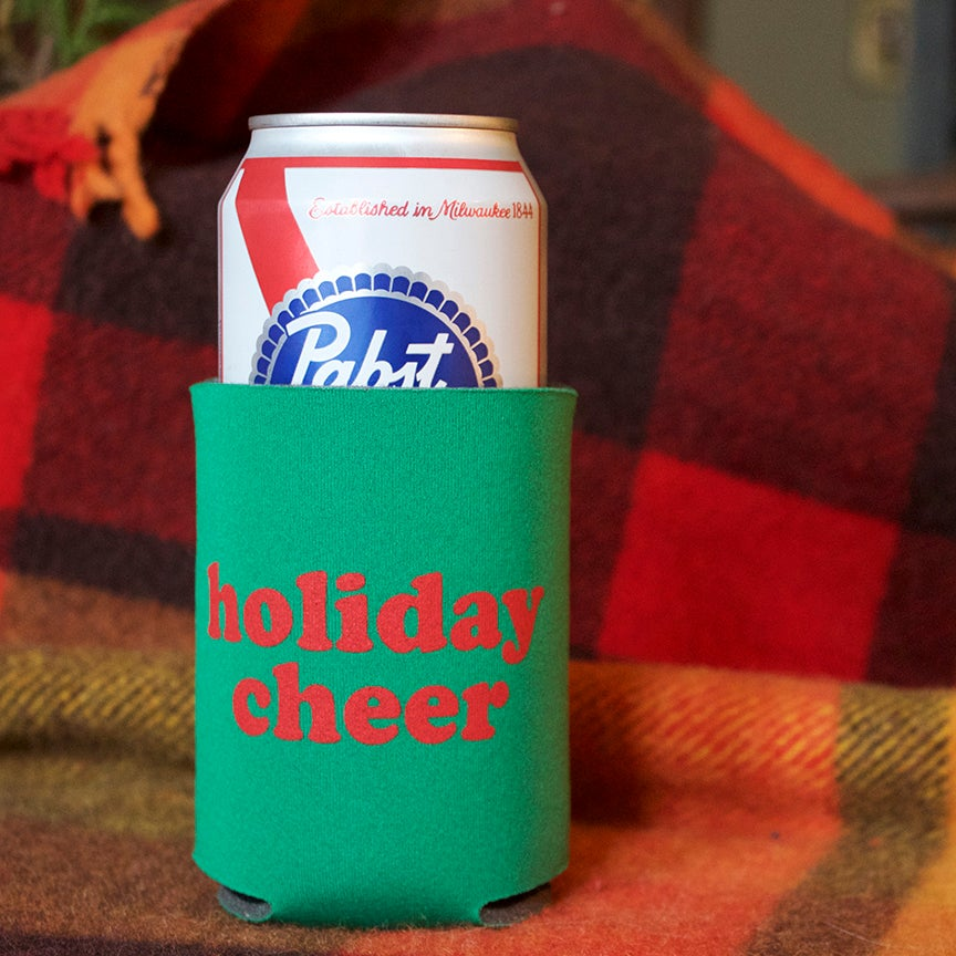 Image of Holiday Cheer- screen-printed can cooler