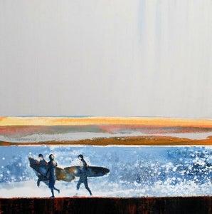 Image of Morning Surfers, Polzeath, Cornwall