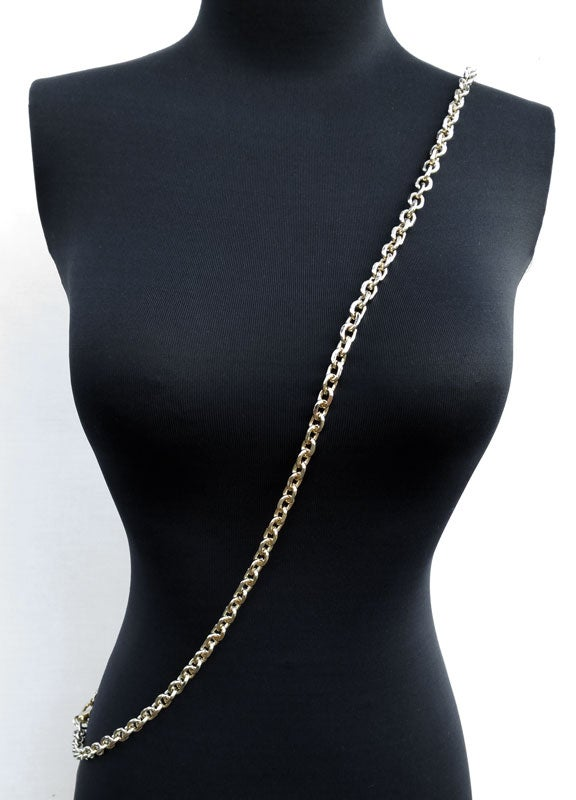 "Image of LIGHT GOLD Chain Purse Strap - Diamond Cut Rolo Chain - 3/8"" (9mm) Wide - Choose Length & Clasps"