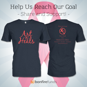 "Image of Pink Ink Fund""Art Heals"" 2 sided T shirt"
