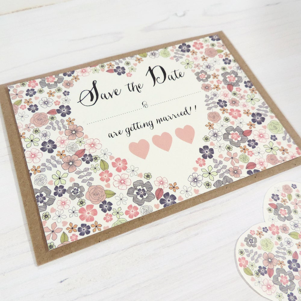 Image of Love Heart 'Write Your Own' Wedding Range