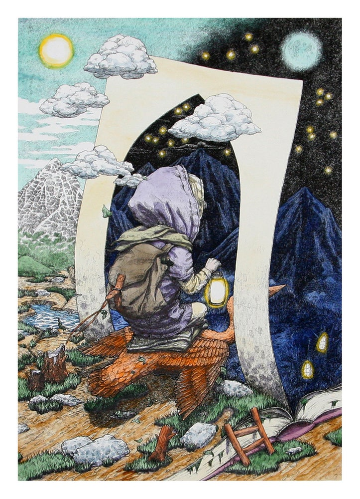 "Image of Rustam QBic ""Day & Night"" Hand Coloured"