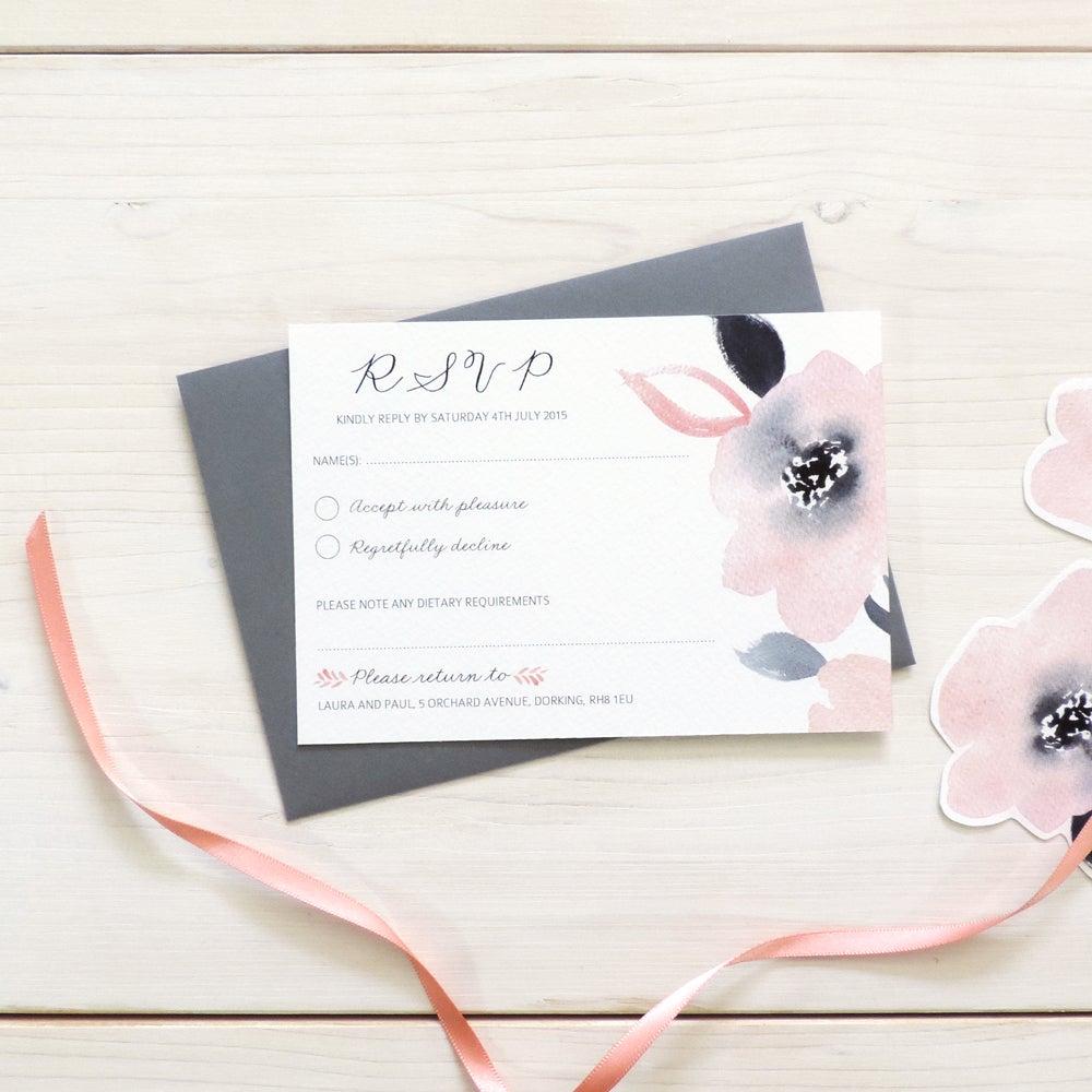 Image of Sweet Posey Bespoke Wedding Invitation and RSVP Bundle