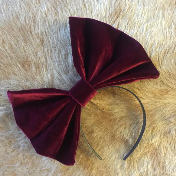 "Image of ""WINE NOT"" Hair Bow *Handmade by Millionaires*"