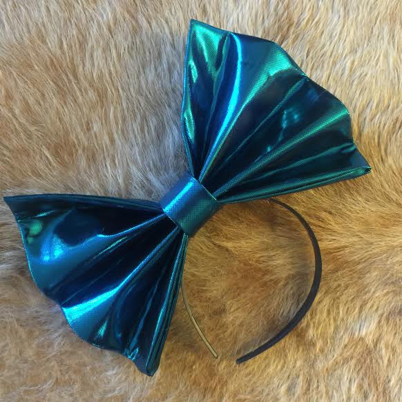 """Image of """"BLUE BALLZ"""" Hair Bow *Handmade by Millionaires*"""