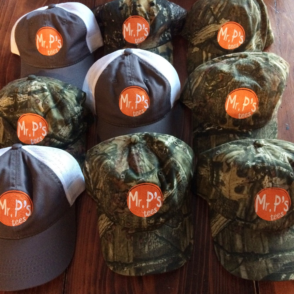 Image of Mr P's Hats-Camo and Dark Gray