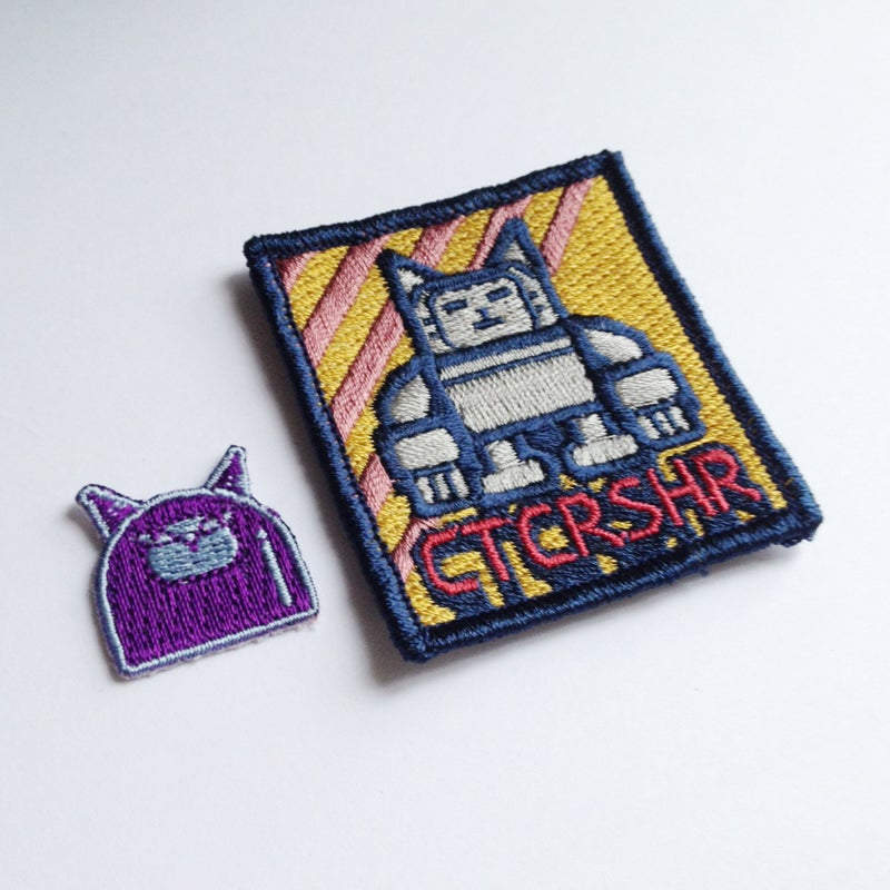 Image of CITYCRUSHER robot cat patches