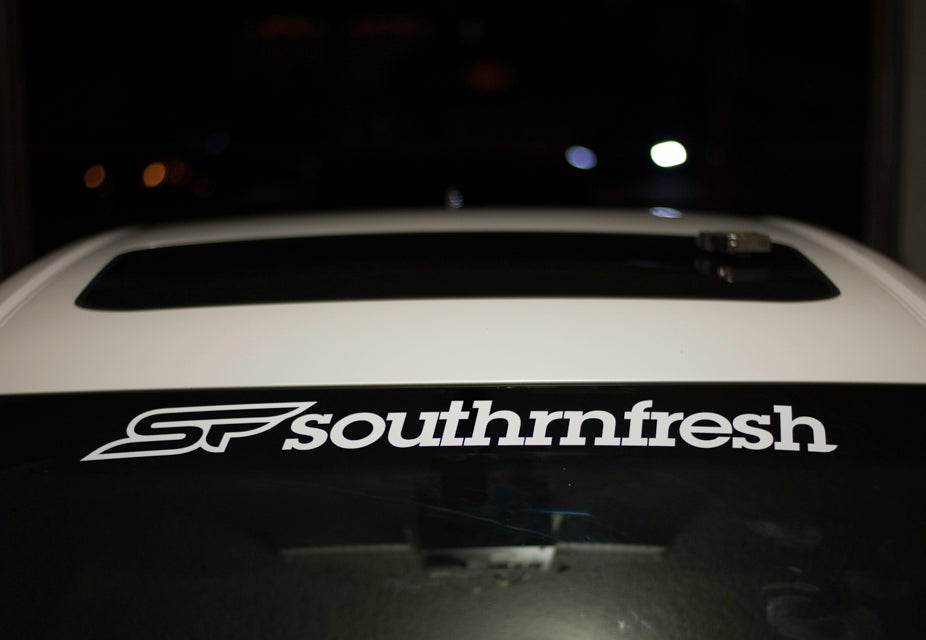"Image of Southrnfresh Version 3 28"" Windshield Banner"