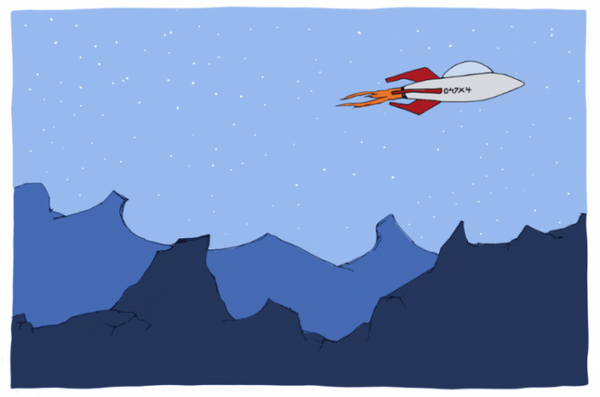Image of Rocketship Print
