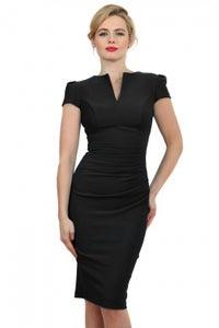 Image of Body con cap sleeve - black