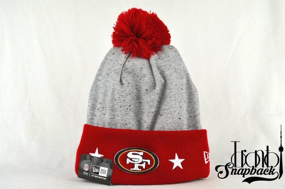 Image of SAN FRANCISCO 49ERS NFL HEATHER SPEC NEW ERA BEANIE