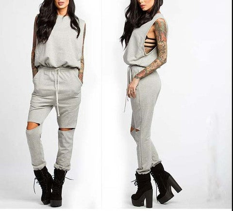 Image of FASHION HOLE CUTE JUMPSUIT