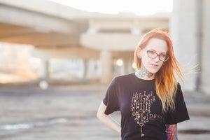 "Image of Dessa ""Skeleton Key"" Organic Shirt"