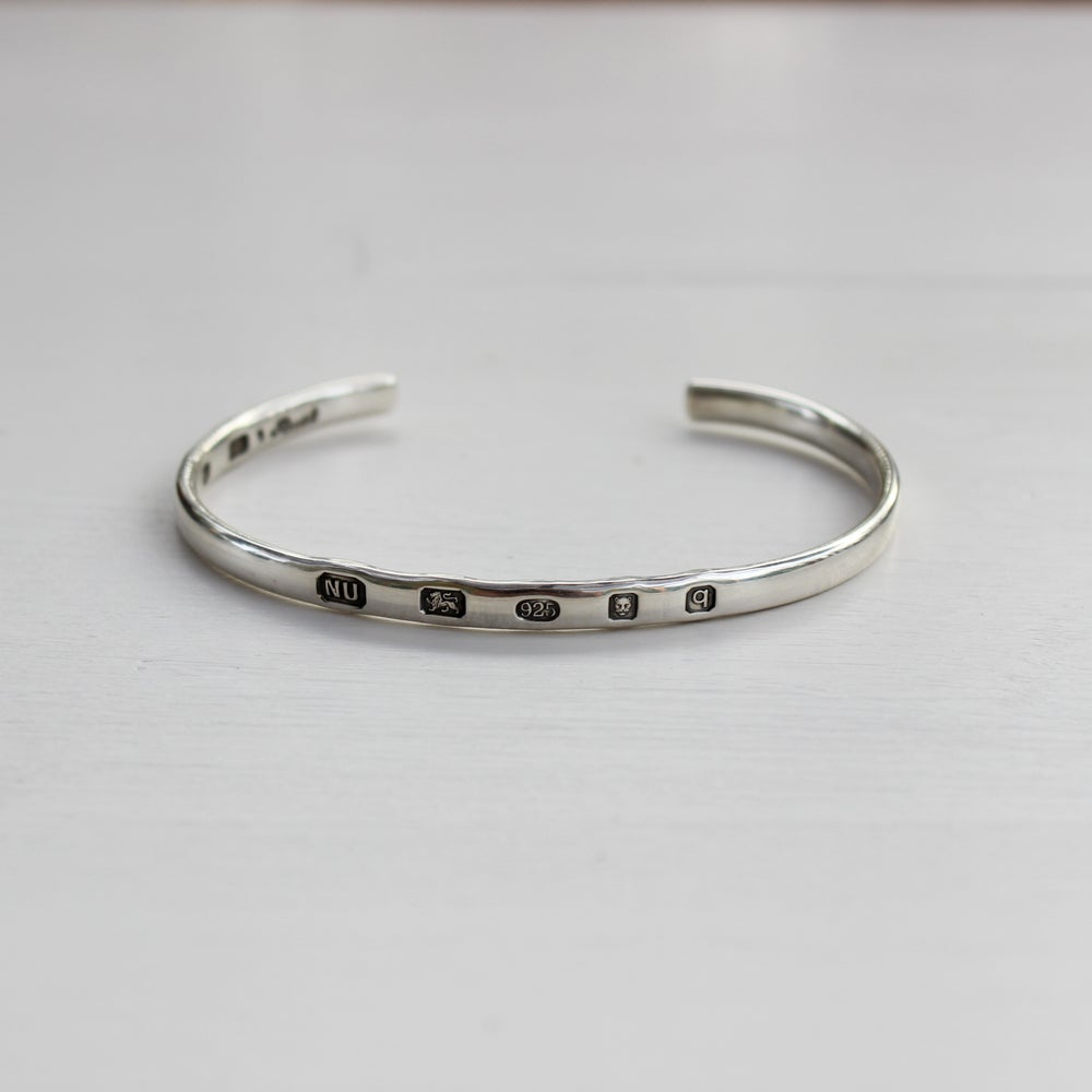 Image of men's silver ingot bangle (light weight)