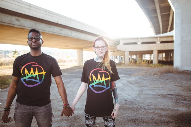 "Image of Doomtree ""No Kings"" Rainbow Shirt"
