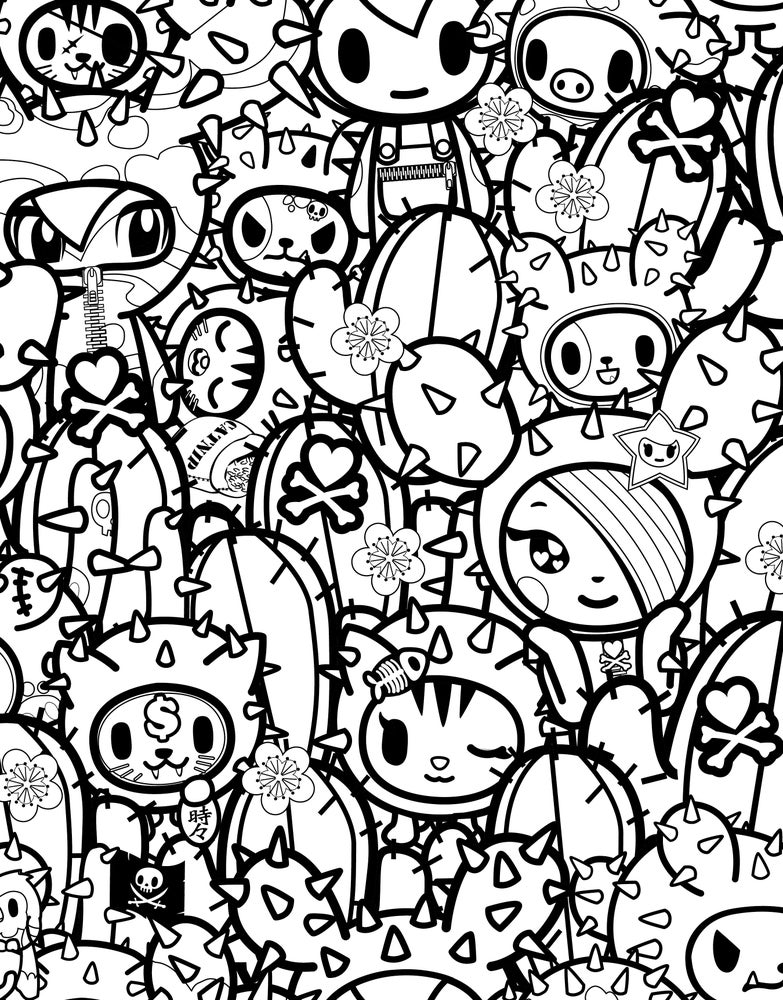 toki doki coloring pages | Tokidoki Special Edition / Color Ink Book