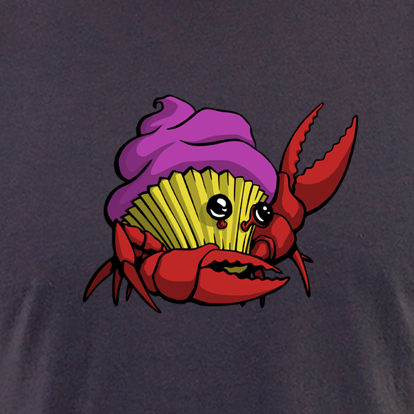 Image of Crabcake T-shirt (Dark Gray)