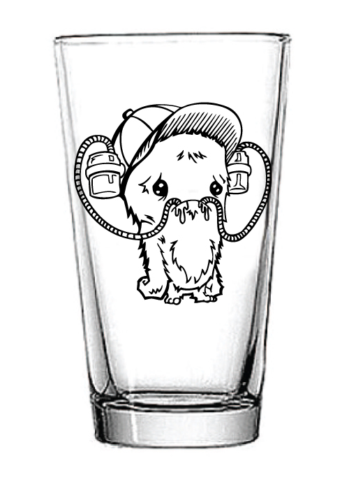 Image of Beer Helmet Monster Pint Glass
