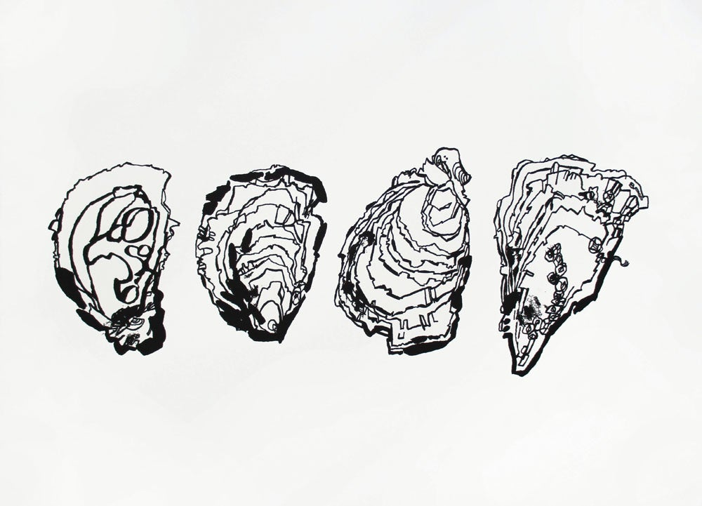 Image of Four oysters