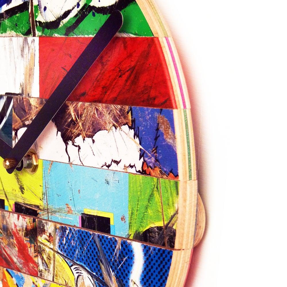 "Image of Basic Skateboard Clock- 10""(254mm) Dia. WallClock by Deckstool."