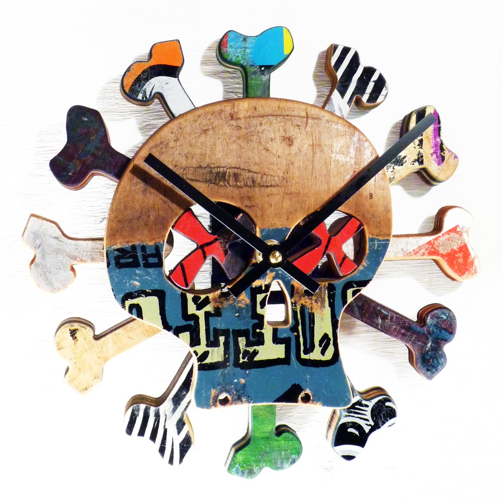 "Image of ""Boneless"" Skateboard Clock by Deckstool. **SOLD OUT**"
