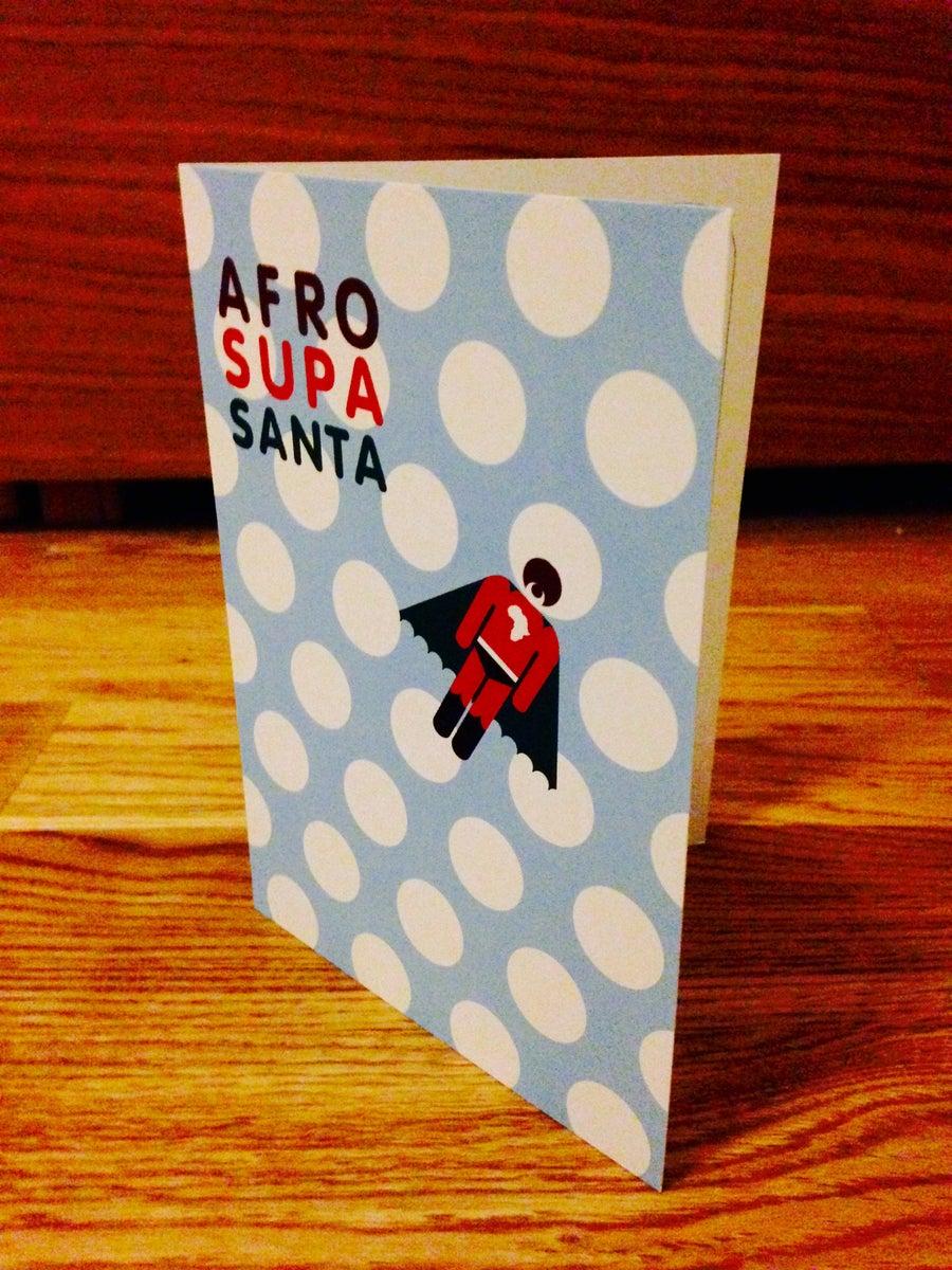Image of AFRO SUPA® SANTA | XMAS CARDS