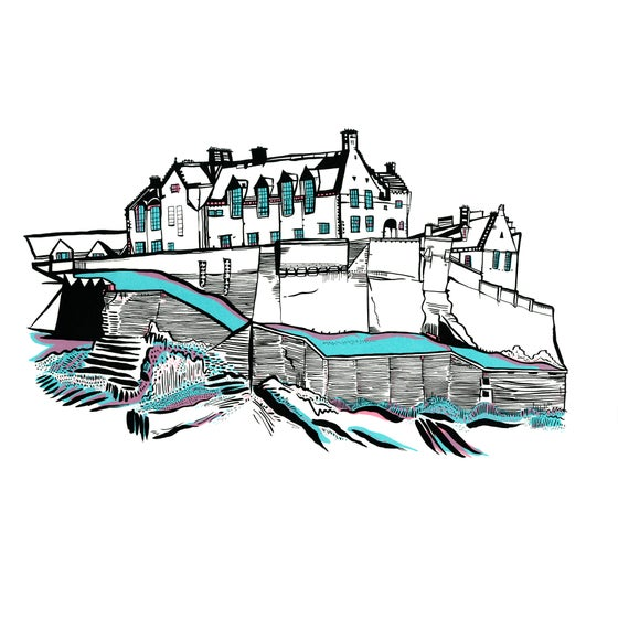 Image of Edinburgh Castle screen_print
