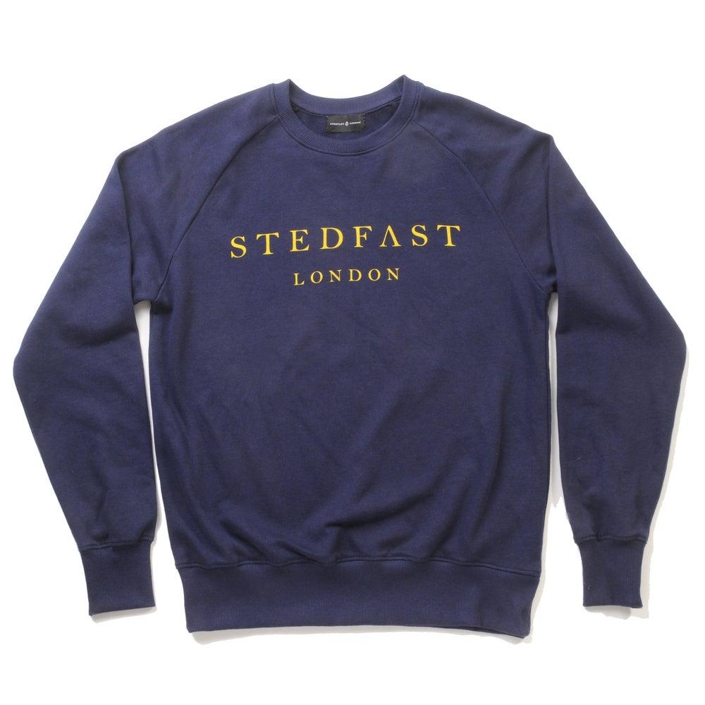 Image of Mens Stedfast Navy Sweatshirt