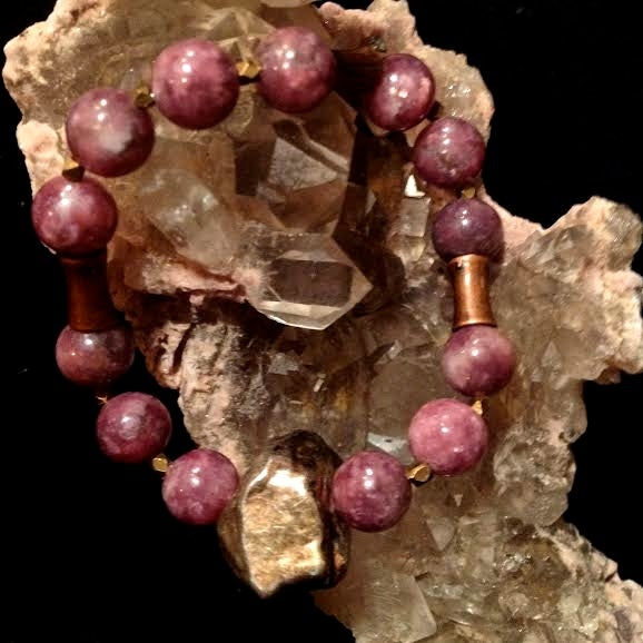 Image of Detoxify and Heal <3  Purple Lepidolite and Copper