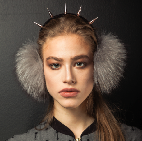 "Image of ""Asgard"" Blue Fox Earmuffs"