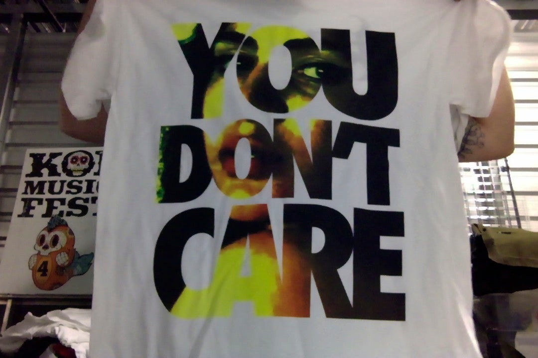 """Image of EMMURE """"YOU DON'T CARE"""" SHIRT (LARGE & XL)"""