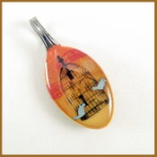 Image of Birds and a Cage: baby spoon pendant