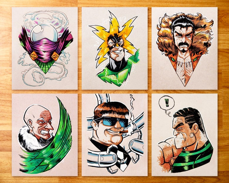 Image of Sinister Six Mini Print Set